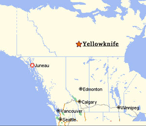 Map Of Canada Yellowknife.Rae Summer 2006